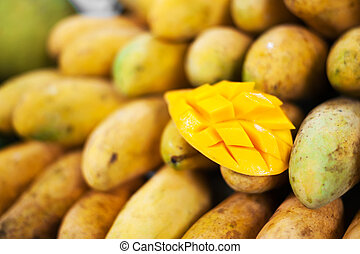 Mango fruit in nature with soft light