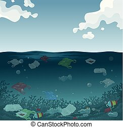 An marine pollution background