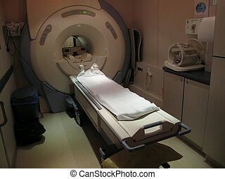An MRI machine. - A MRI magnetic resonance imaging machine ...