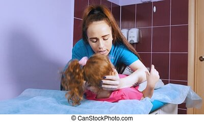 An occupation with child with cerebral palsy. Healing...