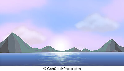 An ocean - Illustration of an ocean