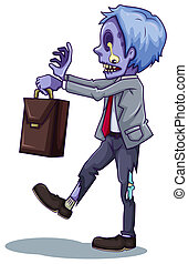 An office worker zombie