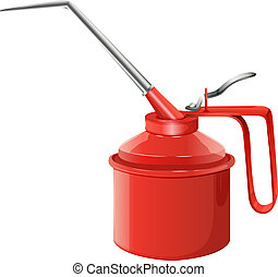 An oil can - Illustration of an oil can on a white...