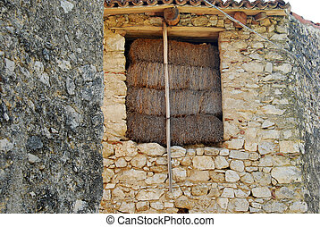 An old barn in the village of Assergi in Abruzzo - Italy