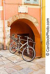 Bike on Stone Walk