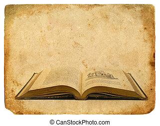 An old book eighteenth century. Old postcard. - An old book...