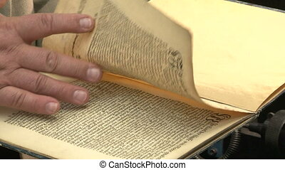 An old book in the hands