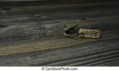 An old bracelet of hope. Faith in a miracle. hope for the...