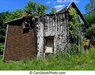 An Old broken house