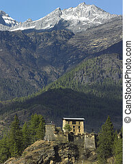 Kingdom of Bhutan - An old Buddhist monastery (dzong) in the...