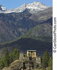 Kingdom of Bhutan - An old Buddhist monastery (dzong) in the...