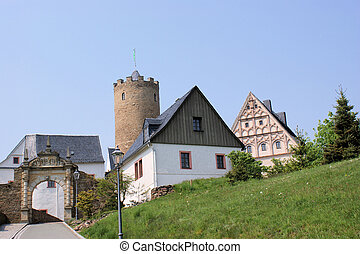 An old castle in the Erzgebirge