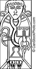 An old celtic symbol of Saint Luke
