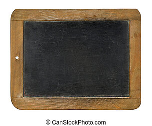 An old chalkboard on a white background