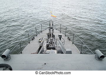 an old cold war type of torpedo boat
