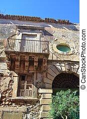 An Old Crumbling Palazzo - An old crumbling palazzo in...