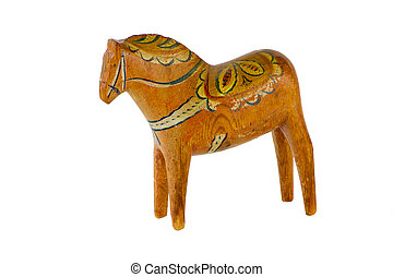 an old dala horse an old dalecarlian or dala horse carved