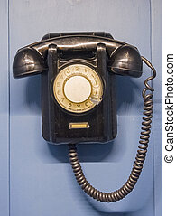 An old dial telephone