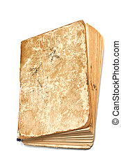 An old dog-eared book isolated