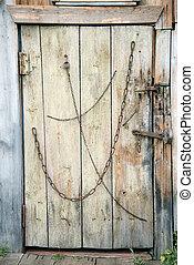 An old door made of boards
