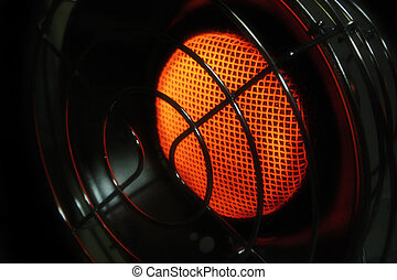 space heater - an old fashioned space heater