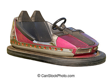 An old funfair bumper car. - An old funfair bumper car, also...