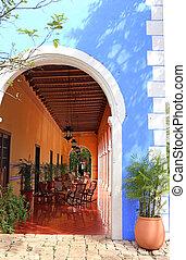 Hacienda Hotel in Yucatan, Mexico - an old Hacienda Hotel in...