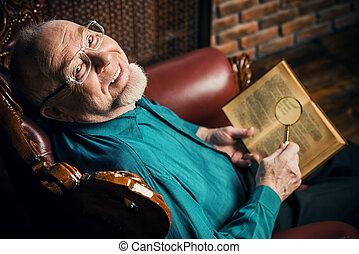 old intelligent man