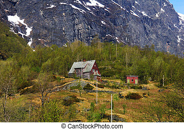 An old isolated hut in NOrway