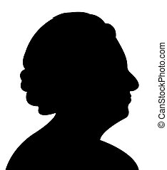 an old lady head silhouette