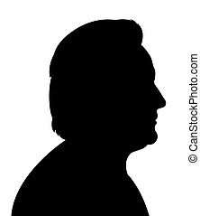 an old lady head silhouette vector