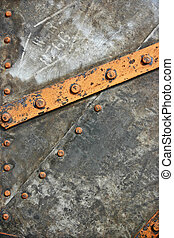 An Old Metal Background with Rivets