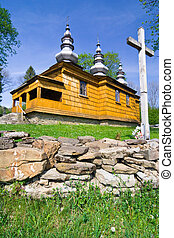 An old Orthodox church in Rzepedz, Beskid Niski Mountains, South Eastern Poland.