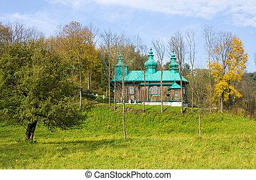 An old Orthodox church in Szczawne, Beskid Niski Mountains, South Eastern Poland.