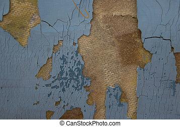 An old peeled off worn cardboard texture