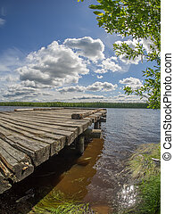 an old pier on the river