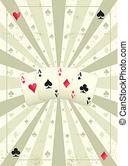 old poker background