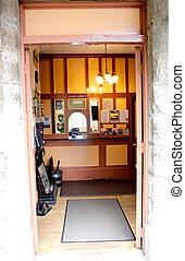 An old railway ticket office
