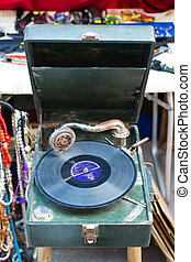An old retro gramophone