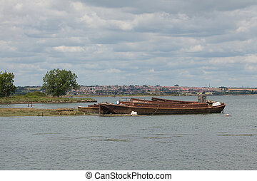 An old rusting boat