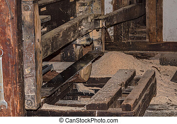 An old sawmill in operation.