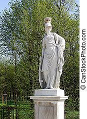 An old statue in the garden of Sch?nbrunn, Vienna