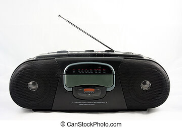 an old tape deck radio