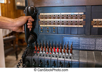 An old telephone station of 1910s