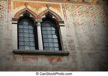 an old window in the Venetian style