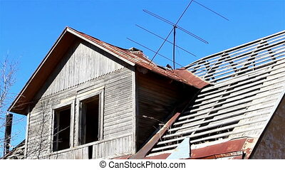 An old wooden and rusty house