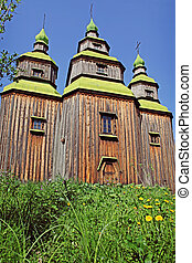 An old wooden Christian Orthodox Church