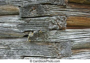 An old wooden church wall