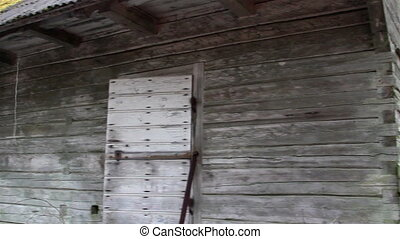 An old wooden shingles of an old house