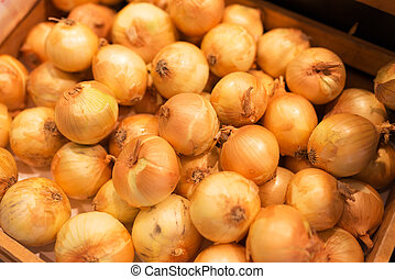 Onion in market place with soft light